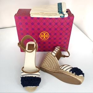 New Tory Burch Wedged Sandals Size 11 M (#box)